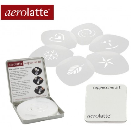 aerolatte® Cappuccino Art (6 DIFFERENT STENCIL DESIGNS )